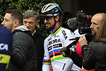 World Champion Peter Sagan (SVK) Bora-Hansgrohe at sign on before the start of the 2017 Strade Bianche running 175km from Siena to Siena, Tuscany, Italy 4th March 2017.<br /> Picture: Eoin Clarke | Newsfile<br /> <br /> <br /> All photos usage must carry mandatory copyright credit (&copy; Newsfile | Eoin Clarke)