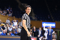 DURHAM, NC - JANUARY 16: Official Meadow Overstreet during a game between Notre Dame and Duke at Cameron Indoor Stadium on January 16, 2020 in Durham, North Carolina.