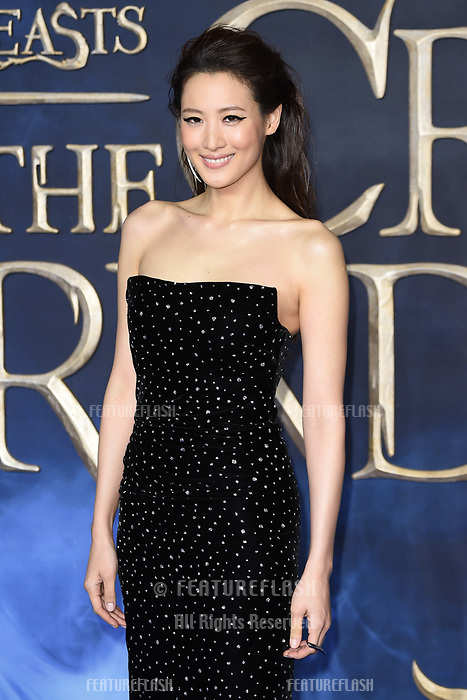 "LONDON, UK. November 13, 2018: Claudia Kim at the ""Fantastic Beasts: The Crimes of Grindelwald"" premiere, Leicester Square, London.<br /> Picture: Steve Vas/Featureflash"