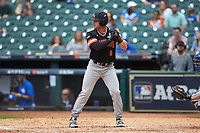 Ben Haefner (6) of the Sam Houston State Bearkats at bat against the Kentucky Wildcats during game four of the 2018 Shriners Hospitals for Children College Classic at Minute Maid Park on March 3, 2018 in Houston, Texas. The Wildcats defeated the Bearkats 7-2.  (Brian Westerholt/Four Seam Images)