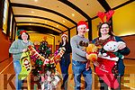 Getting ready for the Christmas party at the Tralee KDYS on Christmas day were: Yvonne Dineen, The Happy Memories Store,  Lorraine McIntyre, Centre Administrator of KDYS, Brian Stephenson, The Tralee Chamber Alliance, Laura Kelliher, The Happy Memories Store