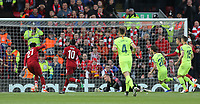 Liverpool's Divock Origi scores the opening goal <br /> <br /> Photographer Rich Linley/CameraSport<br /> <br /> UEFA Champions League Semi-Final 2nd Leg - Liverpool v Barcelona - Tuesday May 7th 2019 - Anfield - Liverpool<br />  <br /> World Copyright © 2018 CameraSport. All rights reserved. 43 Linden Ave. Countesthorpe. Leicester. England. LE8 5PG - Tel: +44 (0) 116 277 4147 - admin@camerasport.com - www.camerasport.com