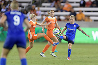 Houston, TX - Sunday Sept. 25, 2016: Denise O'Sullivan, Jessica Fishlock during a regular season National Women's Soccer League (NWSL) match between the Houston Dash and the Seattle Reign FC at BBVA Compass Stadium.