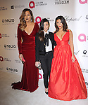 Khloe Kardashian,Kourtney Kardashian and Kim Kardashian attends the 2014 Elton John AIDS Foundation Academy Awards Viewing Party in West Hollyood, California on March 02,2014                                                                               © 2014 Hollywood Press Agency