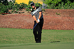 Henrik Stenson chips onto he 8th green during Day 1 of the Dubai World Championship, Earth Course, Jumeirah Golf Estates, Dubai, 25th November 2010..(Picture Eoin Clarke/www.golffile.ie)