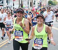 Friends laugh it up at the L.A. Marathon.