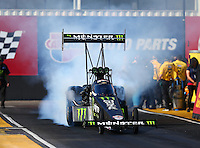 Feb 24, 2017; Chandler, AZ, USA; NHRA top fuel driver Brittany Force during qualifying for the Arizona Nationals at Wild Horse Pass Motorsports Park. Mandatory Credit: Mark J. Rebilas-USA TODAY Sports