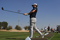 Cormac Sharvin (NIR) on the driving range during the Preview of the Commercial Bank Qatar Masters 2020 at the Education City Golf Club, Doha, Qatar . 03/03/2020<br /> Picture: Golffile   Thos Caffrey<br /> <br /> <br /> All photo usage must carry mandatory copyright credit (© Golffile   Thos Caffrey)