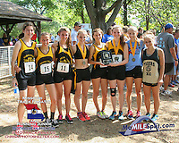 Don Barzowski's Arcadia Valley girls earned the third place trophy in the 1A-2A Varsity race.