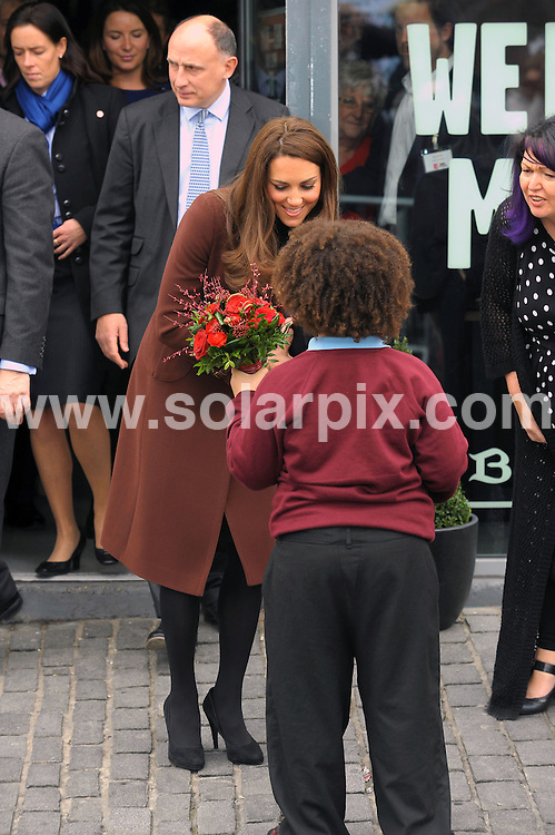 **ALL ROUND PICTURES FROM SOLARPIX.COM**                                             **WORLDWIDE SYNDICATION RIGHTS**                                                                                  Caption: Kate Middleton the Duchess of Cambridge visits The Brink charity Dry bar for recovering alcoholics in Liverpool UK                                                                              This pic: Kate Middleton                                                                                             JOB REF: 14475       MSR       DATE:14.02.2012                                                            **MUST CREDIT SOLARPIX.COM OR DOUBLE FEE WILL BE CHARGED**                                                                      **MUST AGREE FEE BEFORE ONLINE USAGE**                               **CALL US ON: +34 952 811 768 or LOW RATE FROM UK 0844 617 7637**