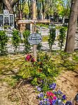 Grób Janusza Muniaka, muzyka, światowej sławy saksofonisty na Cmentarzu Rakowickim w Krakowie
