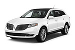 2018 Lincoln MKT Reserve 5 Door SUV angular front stock photos of front three quarter view