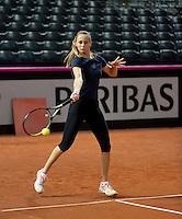 Februari 04, 2015, Apeldoorn, Omnisport, Fed Cup, Netherlands-Slovakia, Magdaléna Rybáriková (SLO)<br /> Photo: Tennisimages/Henk Koster