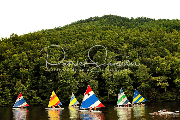 Boy Scout summer camp activities at Raven Knob Scout