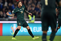 Federico Bernardeschi of Italy celebrates after scoring the goal of 2-0 <br /> Roma 12-10-2019 Stadio Olimpico <br /> European Qualifiers Qualifying round Group J <br /> Italy - Greece <br /> Photo Andrea Staccioli/Insidefoto