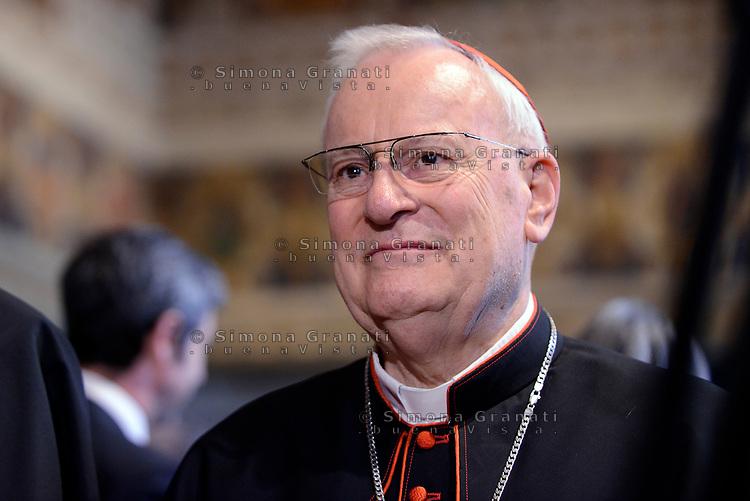 Roma,10 Giugno 2017<br /> Cardinale Gualtiero Bassetti, arcivescovo di Perugia, il Presidente della Conferenza Episcopale Italiana (CEI)<br /> Papa Francesco in visita al Quirinale