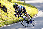 Amanda Spratt (AUS) descends during the Women Elite Road Race of the 2018 UCI Road World Championships running 156.2km from Kufstein to Innsbruck, Innsbruck-Tirol, Austria 2018. 29th September 2018.<br /> Picture: Innsbruck-Tirol 2018/BettiniPhoto | Cyclefile<br /> <br /> <br /> All photos usage must carry mandatory copyright credit (&copy; Cyclefile | Innsbruck-Tirol 2018/BettiniPhoto)