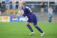 VOETBAL: DRACHTEN: 20-09-2014, Drachtster Boys - VV Staphorst, uitslag 2-1, Keeper Drachtster Boys Jarno de Jonge (#25), ©foto Martin de Jong