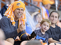 Houston, TX - Saturday July 08, 2017: Houston Dash Fans during a regular season National Women's Soccer League (NWSL) match between the Houston Dash and the Portland Thorns FC at BBVA Compass Stadium.