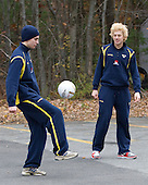 Nils Andersson (Sweden - 3), Rickard Rakell (Sweden - 19) - The Merrimack College Warriors defeated the visiting Sweden Under 20 team 4-1 on Tuesday, November 2, 2010, at Lawler Arena in North Andover, Massachusetts.