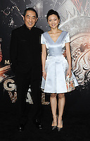 www.acepixs.com<br /> <br /> February 15 2017, LA<br /> <br /> Director Zhang Yimou and his wife Chen Ting arriving at the premiere of 'The Great Wall' at the TCL Chinese Theatre on February 15, 2017 in Hollywood, California. <br /> <br /> By Line: Peter West/ACE Pictures<br /> <br /> <br /> ACE Pictures Inc<br /> Tel: 6467670430<br /> Email: info@acepixs.com<br /> www.acepixs.com
