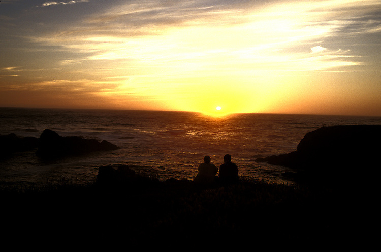Enjoying a sunset on the Mendocino Headlands, Mendocino Northern California