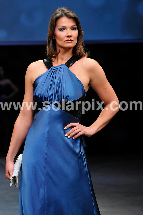 **ALL ROUND PICTURES FROM SOLARPIX.COM**.**SYNDICATION RIGHTS FOR UK AND SPAIN ONLY**.German swimmer Franziska van Almsick and American model and choreographer Bruce Darnell present the C&A Autumn Winter collection in Dusseldorf, Germany. 22 April 2009..This pic: Franziska van Almsick..JOB REF: 8870 CPR (DFD)    DATE: 22_04_2009.**MUST CREDIT SOLARPIX.COM OR DOUBLE FEE WILL BE CHARGED**.**ONLINE USAGE FEE GBP 50.00 PER PICTURE - NOTIFICATION OF USAGE TO PHOTO @ SOLARPIX.COM**.**CALL SOLARPIX : +34 952 811 768 or LOW RATE FROM UK 0844 617 7637**