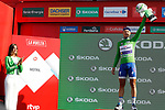 Matteo Trentin (ITA) Quick-Step Floors retains the Green Jersey on the podium at the end of Stage 12 of the 2017 La Vuelta, running 160.1km from Motril to Antequera Los D&oacute;lmenes, Spain. 31st August 2017.<br /> Picture: Unipublic/&copy;photogomezsport | Cyclefile<br /> <br /> <br /> All photos usage must carry mandatory copyright credit (&copy; Cyclefile | Unipublic/&copy;photogomezsport)