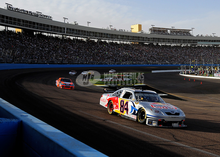Nov. 9, 2008; Avondale, AZ, USA; NASCAR Sprint Cup Series driver Scott Speed during the Checker Auto Parts 500 at Phoenix International Raceway. Mandatory Credit: Mark J. Rebilas-