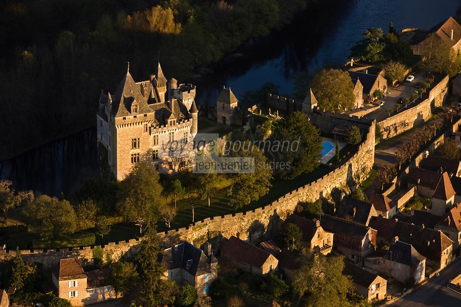 Europe/France/Aquitaine/24/Dordogne/Vallée de la Dordogne/Périgord Noir/Vitrac: Château de Montfort -Vue aérienne