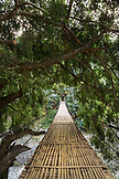 INDONESIA, Flores, a bamboo bridge spans the 10 Kilometer River on the Transflores Hwy outside of Ende, Kilimutu National Park