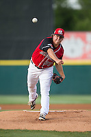 Hickory Crawdads starting pitcher Erik Swanson (37) in action against the Lexington Legends at L.P. Frans Stadium on April 29, 2016 in Hickory, North Carolina.  The Crawdads defeated the Legends 6-2.  (Brian Westerholt/Four Seam Images)
