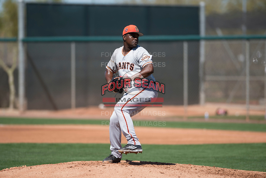 San Francisco Giants starting pitcher Raffi Vizcaino (72) during a Minor League Spring Training game against the Arizona Diamondbacks at Salt River Fields at Talking Stick on March 28, 2018 in Scottsdale, Arizona. (Zachary Lucy/Four Seam Images)