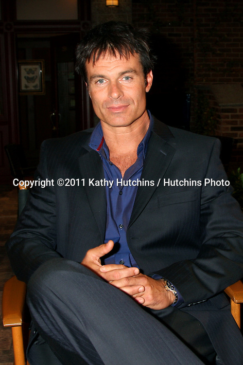 LOS ANGELES - AUG 10:  Patrick Muldoon at the Horton Square Press Junket at the Days of Our Lives Set - NBC on August 10, 2011 in Burbank, CA