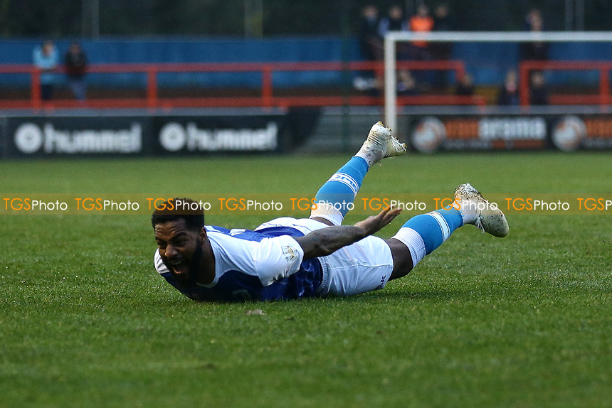 Kemy Agustien of Barrow scores the first goal for his team and celebrates during Braintree Town vs Barrow, Vanarama National League Football at the IronmongeryDirect Stadium on 1st December 2018