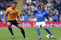 James Maddison of Leicester City and Leander Dendoncker of Wolverhampton Wanderers during Leicester City vs Wolverhampton Wanderers, Premier League Football at the King Power Stadium on 11th August 2019