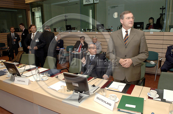 Brussels-Belgium - 15 May 2006---European Ministers for Foreign Affairs and Defence meet on EU-Council-level; here, Franz-Josef JUNG, Minister for Defence of Germany---Photo: Horst Wagner/eup-images