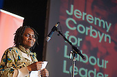 Anti-racist campaigner Martha Osamar. Grassroots for Jeremy. 1500 people attend a rally in support of Jeremy Corbyn for Labour Leader. Camden Centre, London.