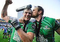 28/05/2016;Guinness Pro12 Final<br /> Connacht&rsquo;s Robbie Henshaw and Eoin McKeon celebrate.<br /> Photo Credit: actionshots.ie/Tommy Grealy
