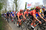 The 2nd group on the road including Greg Van Avermaet (BEL) CCC Team climb Mont Noir during the 2019 Gent-Wevelgem in Flanders Fields running 252km from Deinze to Wevelgem, Belgium. 31st March 2019.<br /> Picture: Eoin Clarke | Cyclefile<br /> <br /> All photos usage must carry mandatory copyright credit (© Cyclefile | Eoin Clarke)