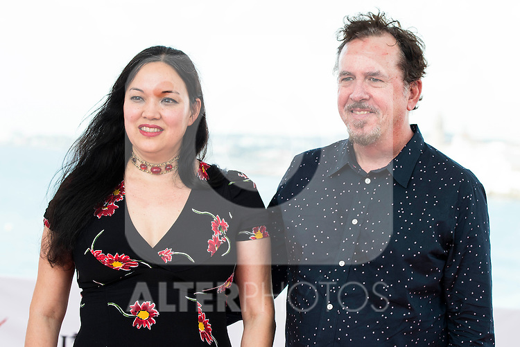 "The director of the film, Anna Biller and the producer Jared Sanford pose to the media during the presentation of the film ""The Love Witch"" at the Festival de Cine Fantastico de Sitges in Barcelona. October 08, Spain. 2016. (ALTERPHOTOS/BorjaB.Hojas)"