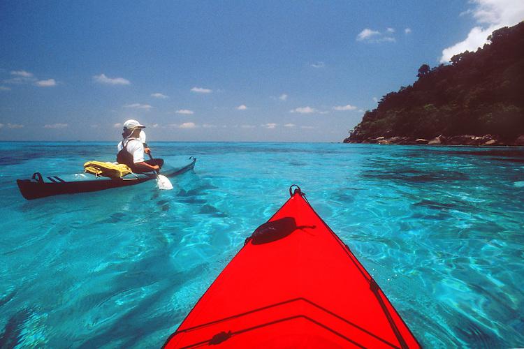 Thailand, kayaking Similan Islands National Park, Similan Islands, Andaman Sea, Indian Ocean, Susan Johnston, model released,.