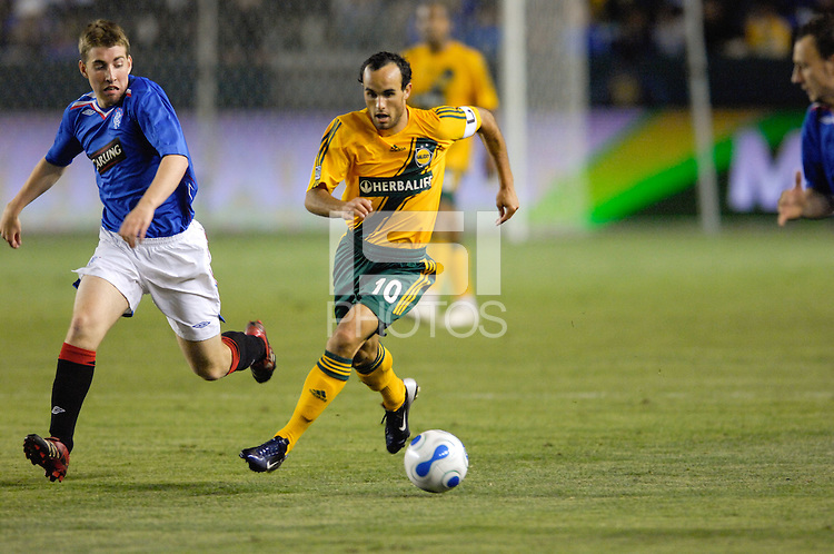 Los Angeles Galaxy's Landon Donovan. The Glasgow Rangers FC beat the LA Galaxy 1-0 in an International friendly match played at the Home Depot Center in Carson, California, Wednesday, May 23, 2007.