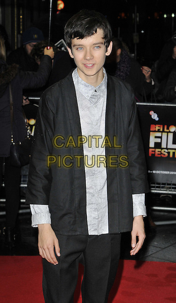LONDON, ENGLAND - OCTOBER 13: Asa Butterfield attends the &quot;X + Y&quot; official screening, 58th LFF day 6, Odeon West End cinema, Leicester Square, on Monday October 13, 2014 in London, England, UK. <br /> CAP/CAN<br /> &copy;Can Nguyen/Capital Pictures
