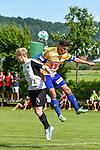 05.07.2017, Sportplatz, Wolfertschwenden, GER, FSP, SV Sandhausen vs FC Luzern, im Bild Kopfballduell, Philipp Klingmann (Sandhausen #24), Olivier Custodio (Luzern #8)<br /> <br /> Foto &copy; nordphoto / Hafner