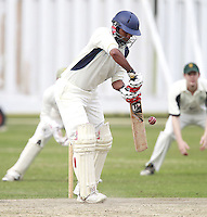 Prinay Patel bats for Wembley during the Middlesex County Cricket League Division Three game between North London and Wembley at Park Road, Crouch End on Sat Aug 2, 2014