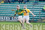 Kerry's John Egan and Antrim's Neill McAuley