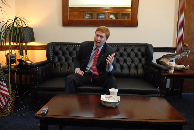 Rep. Adam Putnam, R-Fla., is interviewed by Roll Call in his Longworth office.