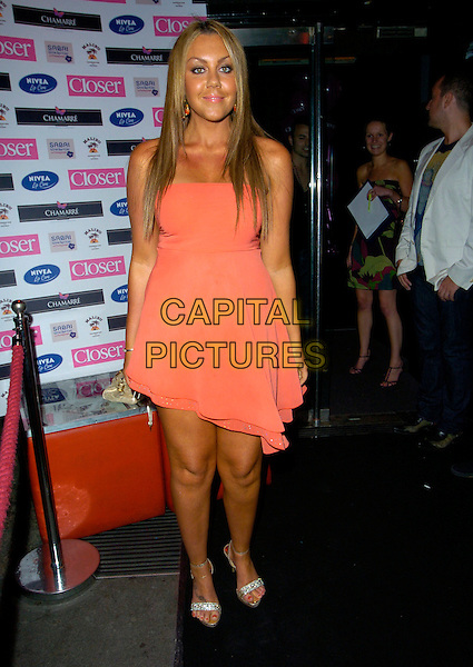MICHELLE SCOTT-LEE.Attending Brian Friedman's Birthday Party, Punk, 14 Soho Street, London, England, June 7th 2007..full length hair extensions orange dress strapless.CAP/CAN.©Can Nguyen/Capital Pictures