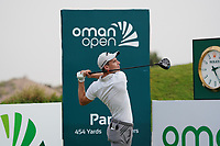 Matthew Jordan (ENG) on the 1st during Round 1 of the Oman Open 2020 at the Al Mouj Golf Club, Muscat, Oman . 27/02/2020<br /> Picture: Golffile   Thos Caffrey<br /> <br /> <br /> All photo usage must carry mandatory copyright credit (© Golffile   Thos Caffrey)